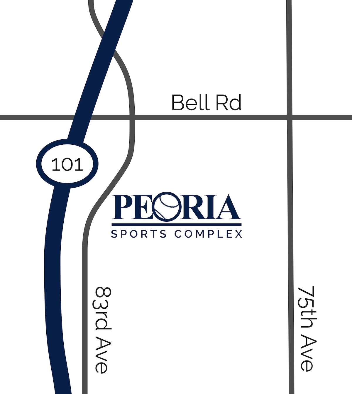 Peoria Sports Complex Map